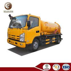 6000 Isuzu 6L cbm 6m3 de aguas residuales de camiones depósito de aspiración vacío