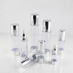 10 مل، 30 مل، 50 مل، 80 مل، 120 مل، زجاجة تجميليّة كزجاجة بدون هواء للتغليف التجميلي