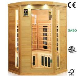 Sauna d'angolo di Infrared lontano di Freestand per un uso delle 2 persone, stanza calda di sauna di terapia del bagno asciutto come brughiera che suda macchina
