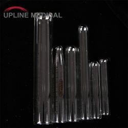 Diferentes tamaños de tubos de ensayo de vidrio, tubos de ensayo de laboratorio de alta calidad
