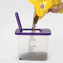 صندوق تخزين طعام الكلاب البلاستيكية القابل للتكديس سعة 30 لتر من مصنعي المعدات الأصلية (OEM)