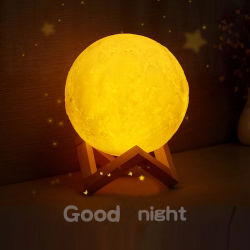 3D Luna Noche de Luz LED Lámpara de luz de luna recargables USB