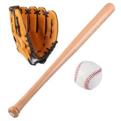 Heißer Verkauf Großhandel 3 in 1 Baseball-Set Basis bat Handschuh und Ball