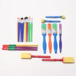 21346の25PCS専門の絵筆の絵筆はプラスチックハンドルを持つ芸術家をセットした