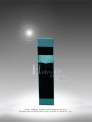 Het gesmolten Iriserende Glas van de Kunst van het Goud of Violetkleurige wordt voorgesteld in een Ebbehout beëindigt de Tribunes van Stonecast TM