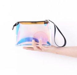 Sacchetto delle estetiche di trucco di Iridescence del laser del sacchetto della signora Waterproof PVC