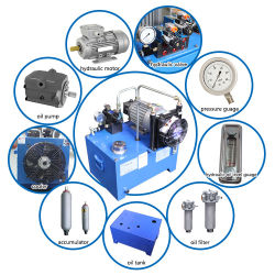 Unità motrice personalizzata la Cina professionale del circuito idraulico della stazione del pacchetto di forza idraulica di MOQ 1PC con il motore idraulico della pompa del tubo flessibile per la vendita idraulica della macchina