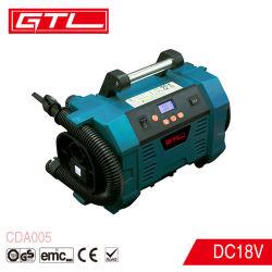 2-in-1 de draagbare Digitale Pomp van de Compressor van de Lucht van de Lader van de Auto van Deflatiecoëfficiënt Draadloze 3.5m van de Inflator van de Band Auto (CDA005)