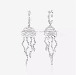 Jóias de Prata Medusas gota brinco de bijuterias