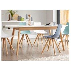 Custom Mhna004 estilo nórdico de madeira maciça extensível 4 6 8 Seaters mesa de jantar