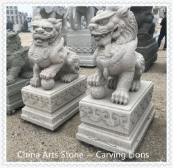 Orientalisches China Kylin, das Tier für das Tür-Schützen schnitzt