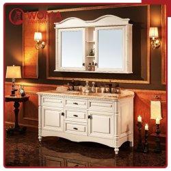 Nuovo Governo di stanza da bagno di marmo naturale di legno di gomma del doppio dispersore di legno solido di disegno moderno