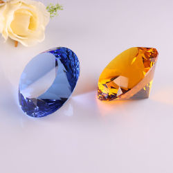 Verre en cristal de diamant pour cadeau de Noël d'artisanat