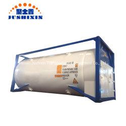 Jsxt 20FT T75 Envios criogénico líquido portátiles de almacenamiento de GNL de la presión de la ISO/Lar/Lin/Lox/N2O/hidrógeno y metano de etileno/contenedor tanque de acero inoxidable con Cryopump