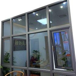 Alliage en aluminium double/simple Hung fenêtre coulissante/avec grill Conception/vitrage en verre fixe/isolation/Snack Bar Diapositive/Windows/jusqu'à battant Fenêtre d'ébarbage