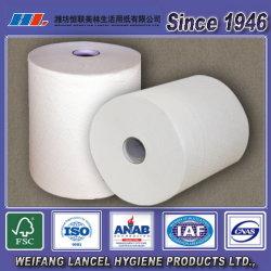 100%年のバージンの使い捨て可能なロール手タオルまたは手タオルかペーパーロールタオル