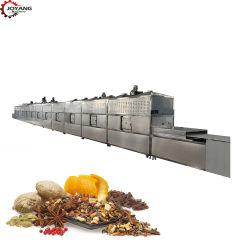 Acero inoxidable CE Condimentos especia cúrcuma chili en polvo de pimienta negra de microondas de procesamiento de la máquina de esterilización de secado de pelo