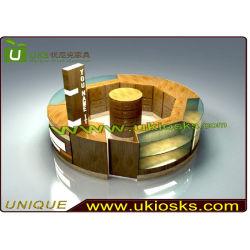 Acessório de madeira e vidro vitrine de Exibição/quiosque de exibição do telefone (E20023)