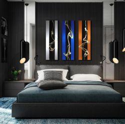 Metal 3D abstractos Aluminio Cepillado Óleo Casa moderna de las Artes de la pared al por mayor de artesanía