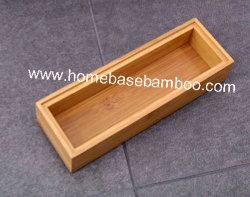 Bamboo in Drawer Storage Box Tray (stapelbare Box) Hb5004