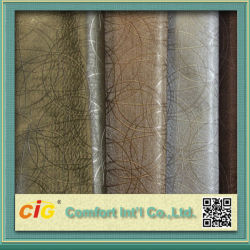 Nuevo diseño de moda la impresión de colorido y variado de PVC en relieve de vacío de la bolsa de tela de saco de cuero para las bolsas y sofá