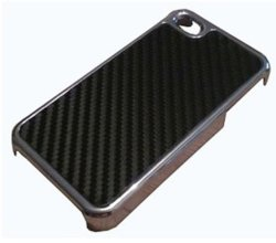 Couvercle de boîtier en fibre de carbone Chrome pour iPhone 4 4s
