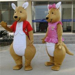 Het in het groot Kostuum van de Mascotte van de Kangoeroe van de Pluche Grappige voor Volwassen Uitrusting