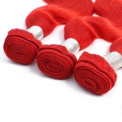 Corpo do Oceano ondulada acenando barato cor vermelha de cabelo humano Corpo Cabelo Brasileiro da onda
