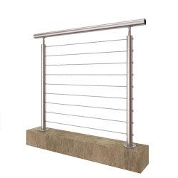 Câble en acier inoxydable moderne de rampe d'Escalier / fil main courante pour Outdoor et Indoor