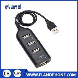 휴대용 USB 2.0 허브 스플리터 블랙/화이트 USB 2.0 골드 도금 커넥터