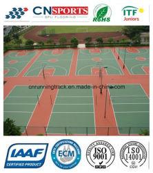 Matière verte intérieur/extérieur pour le sport de la surface de la cour de basket-ball