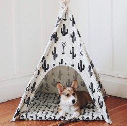 Fashion Chien de compagnie Tipi chien lit pliable lavable Chien de compagnie tente de la chambre
