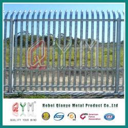 W valla metálica de acero de máxima seguridad / Estilo Euro Palisade