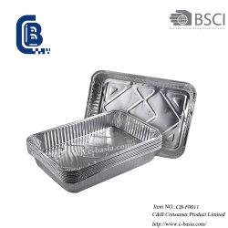 Feuille d'aluminium à usage unique de cuisson Cuisson barbecue récipient alimentaire
