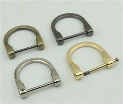 Bolsa de Metales/Accesorios de ropa de aleación de zinc/hierro anillo D Hardware de la junta tórica