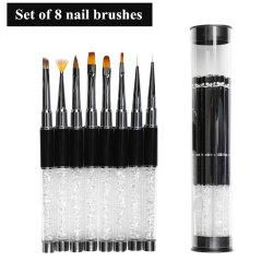 Un insieme di 2020 di vendita calda di Kolinsky del chiodo spazzole acrilico puro di arte per la spazzola del gel del manicure per la spazzola di arte del chiodo