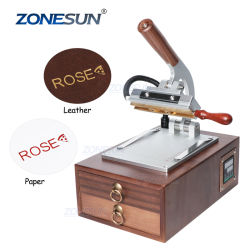 Zemememun ZS-110C جديد مبوسطة ورقة يدوية حطب تسخين الماكينة الصحافة آلة الخطابات ورقة ساخنة آلة ختم