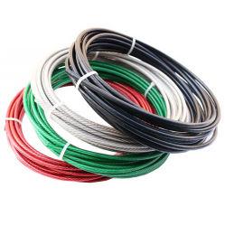 Fabricante de color blanco de la cuerda de alambre de acero recubierto de PVC/Cable de alambre