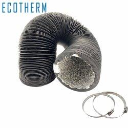 Ventilación HVAC Non-Insulated conducto flexible ventilada de aluminio
