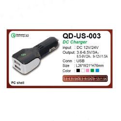 chargeur de voiture QC USB 3.0 rapide pour téléphone mobile