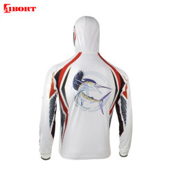 Уф-Aibort Дышащий 100%полиэстер ткань Sublimated промысел футболка (T-ПС-52)