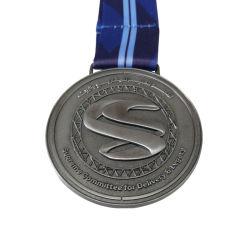 Custom 3D Ligas Medalha de metal com Fita azul