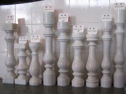 Chivaの中国の白い大理石の石造りの固体磨かれたポストか手すりまたはBottomrailまたは手すりまたはコラムまたは柱または塀またはBaluster