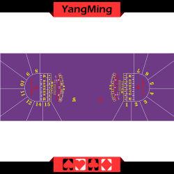 2016 Norma de qualidade Facatory Luxo Baccarat Casino Poker Leiaute de Tabela 15 jogadores de jogos de azar cor púrpura de mesa (YM-BL34G1)