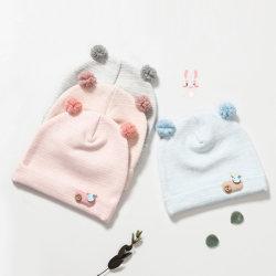 Venta caliente Cashmere Beret tejidas POM Beanie Baby Hat