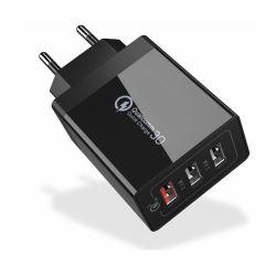 3 ports USB 30W Chargeur rapide QC3.0 Chargeur Téléphone Mobile Chargeur USB