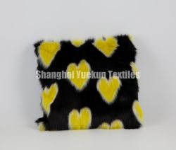 Сердце дизайн поддельные меховые подушки Custom роскошных фо меховые подушки случае специальные подушки подушки крышки автомобиль подушки сиденья