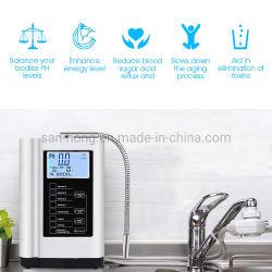 Elektrizitäts-gesunder trinkender alkalischer Mineralwasser Ionizer Filter-Reinigungsapparat mit Titanplatin-Beschichtung-Platten