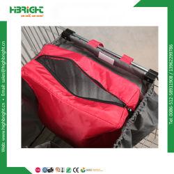 210d складные полиэстер корзина покупок женская сумка с охладителем мешок