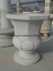 Tallado de piedra arenisca de color beige maceta Jardín Decoración